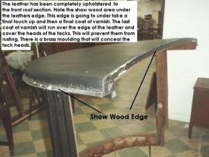 Restoration of show wood edge