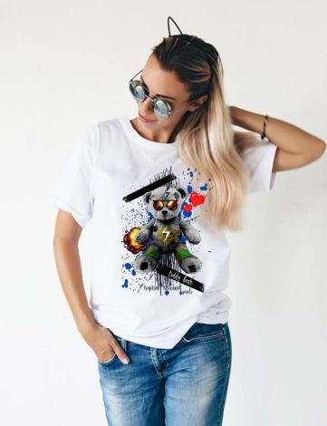 T-shirt Femme Ours Polaire, T-shirt Peluche Personnalisée, T-shirt Raphael Setiano, T-shirts Femme Originaux.