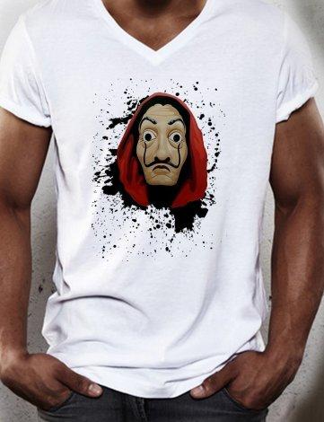 T-Shirt La Casa De Papel, Tee Shirt Masque Serie Netflix,T-shirt Homme