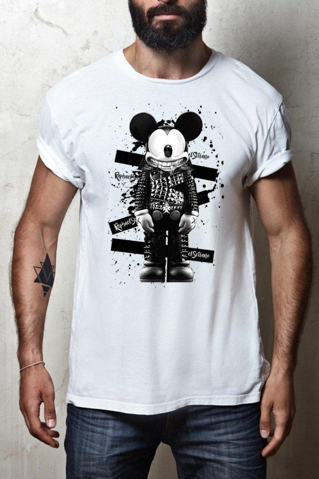 T-shirt Homme Mickey Jackson, T-shirt Créateur, T-shirt Raphael Setiano.