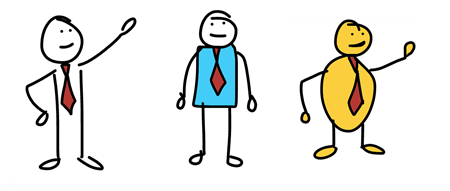 examples of hand-drawn custom characters