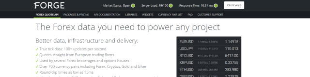 1Forge Realtime Forex Quotes API
