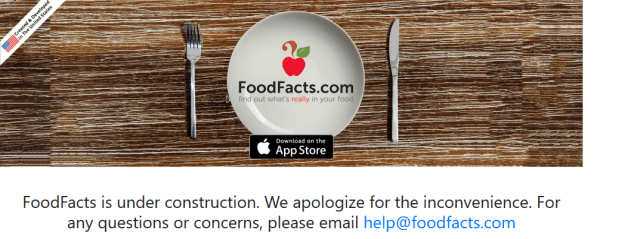 Foodfacts API
