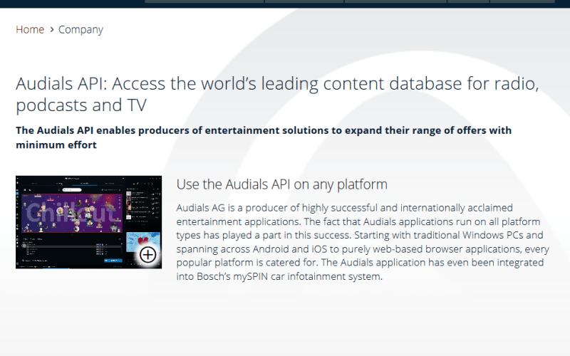 Audials API