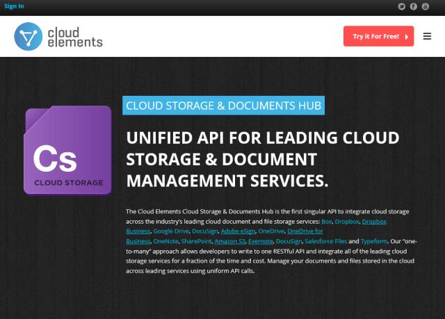 Cloud Elements Cloud Storage Hub API