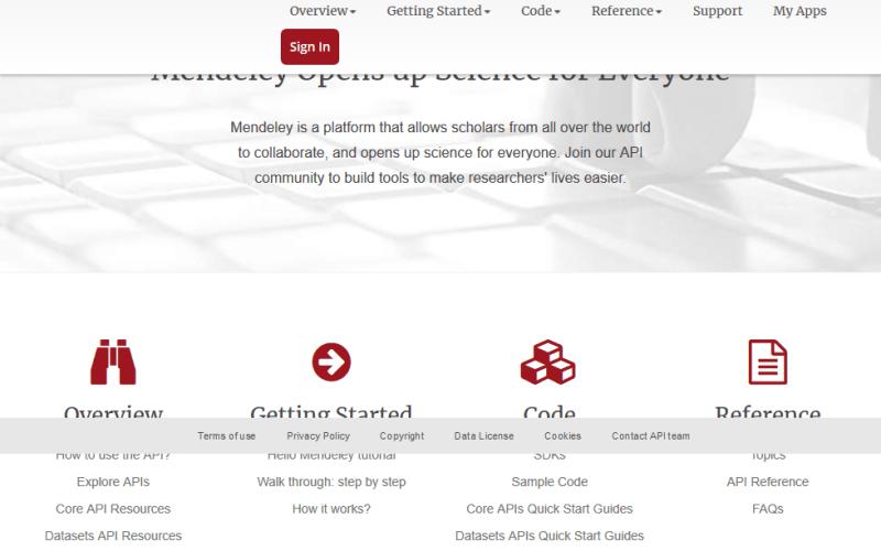 Mendeley API