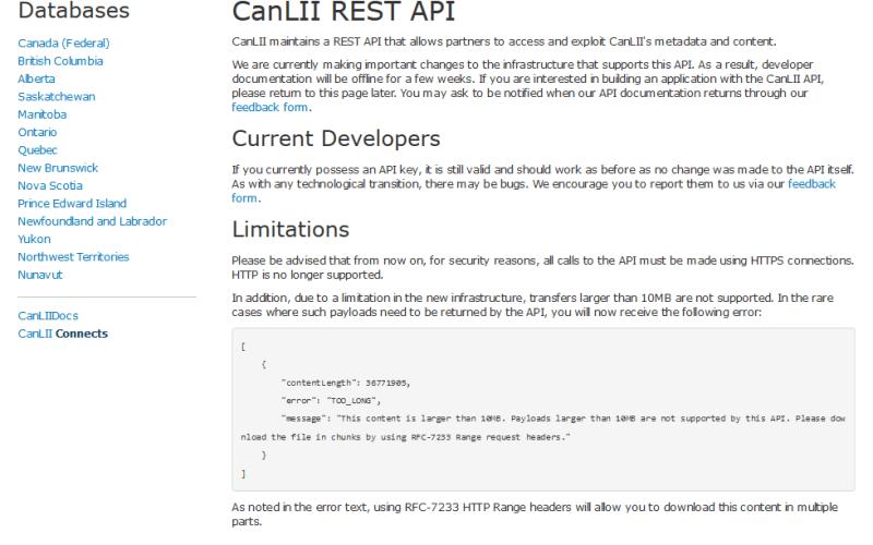 CanLII API