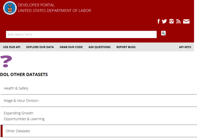 Us Department Labor Forms API