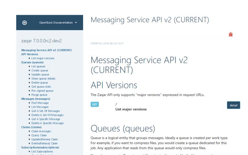 OpenStack Messaging Service API