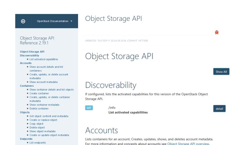 OpenStack Object Storage API