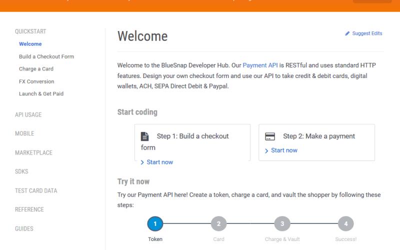 BlueSnap Payment API