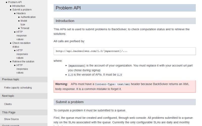 BackSolver API