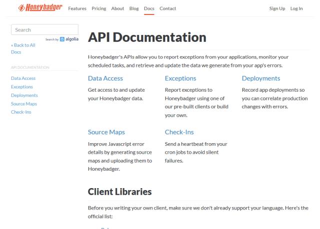 Honeybadger Read API