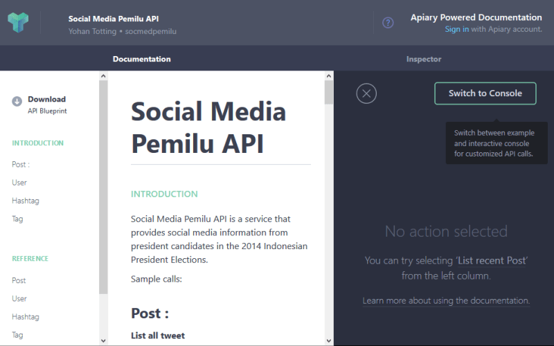 Social Media Pemilu API