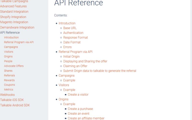 Talkable API