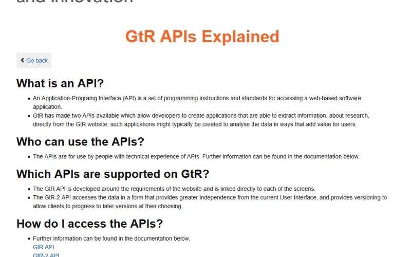 Gateway To Research API