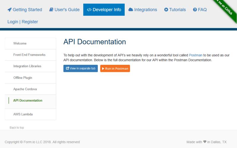 Form.io API