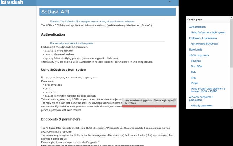 SoDash API