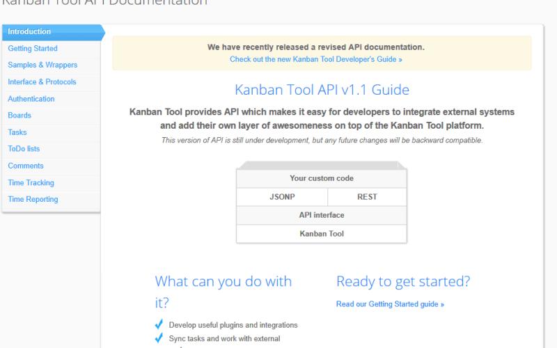 Kanban Tool API