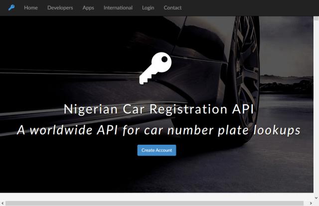 Nigerian Car Registration API