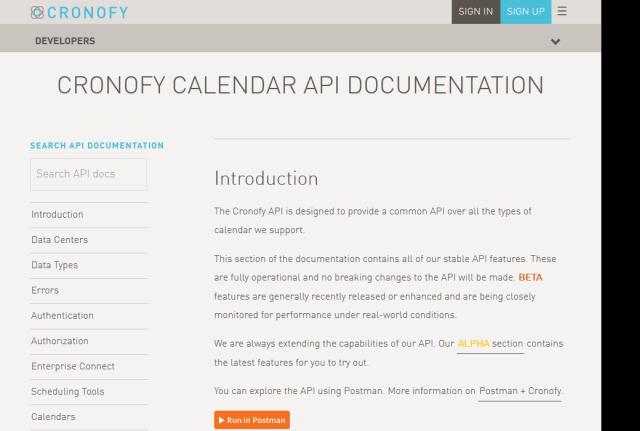 Cronofy API