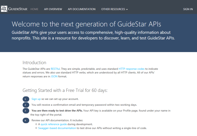 GuideStar Charity Check API