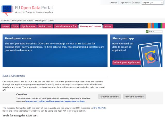 Eu Open Data Portal API