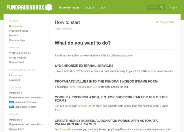 Fundraisingbox API