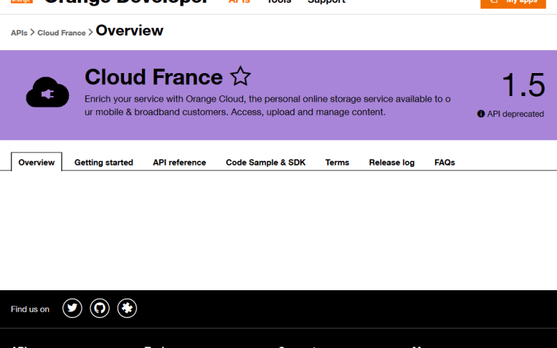 Orange Cloud France API