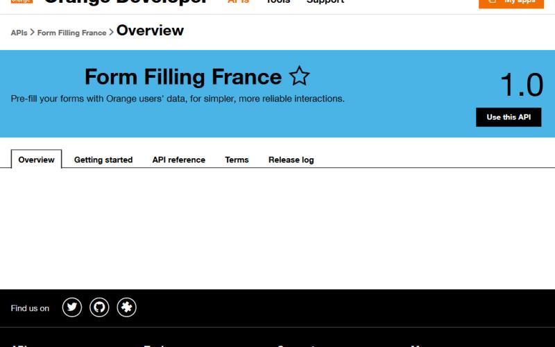 Orange Form Filling France API