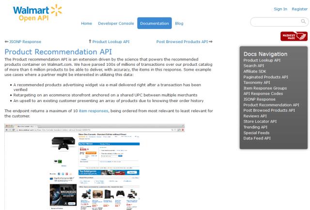 Walmart Product Recommendation API