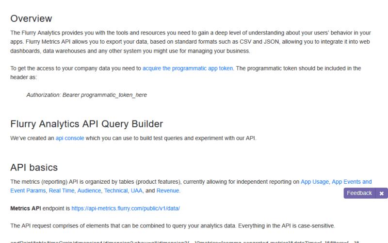 Yahoo Analytics Reporting API