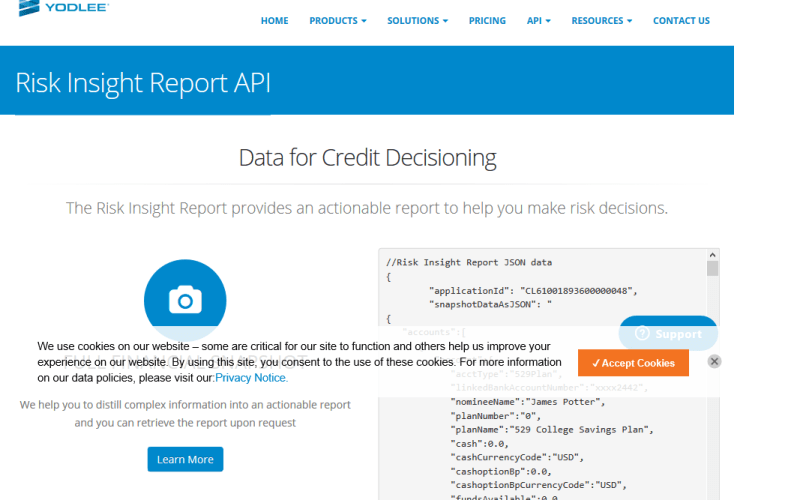 Yodlee Risk Insight API