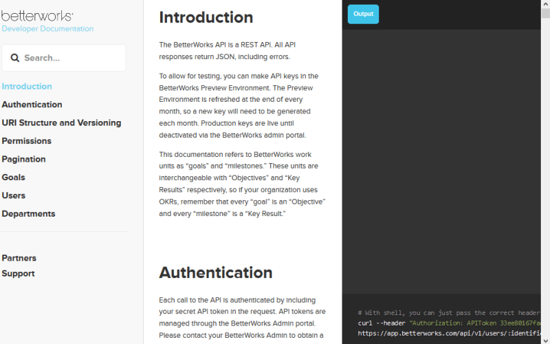 BetterWorks API