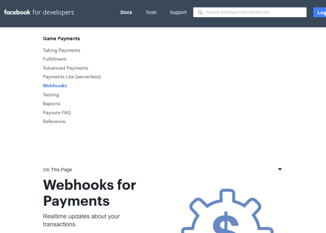 Facebook Payments Webhooks API