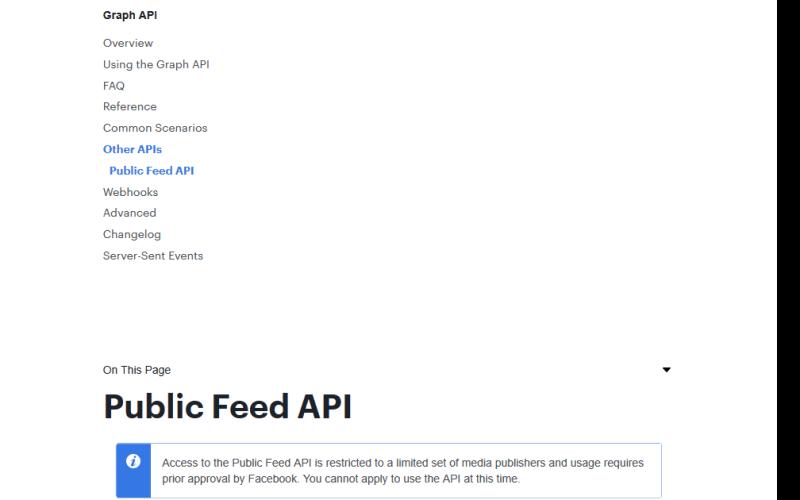 Facebook Public Feed API