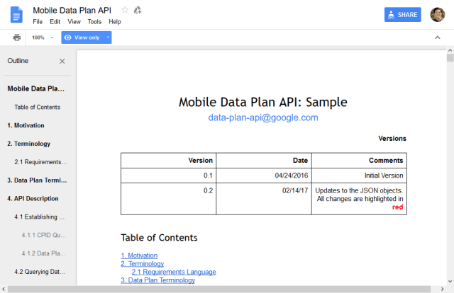 Youtube Mobile Data Plan API