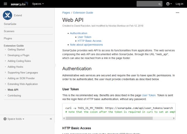 Sonarqube Web API