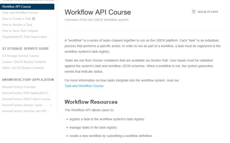 DigitalGlobe GBDX Workflow API