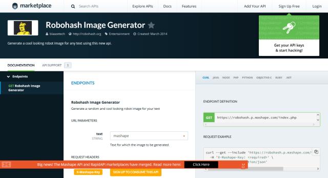Robohash Image Generator API