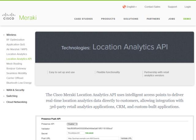 Cisco Meraki Cmx API
