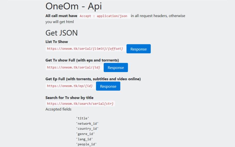OneOm API