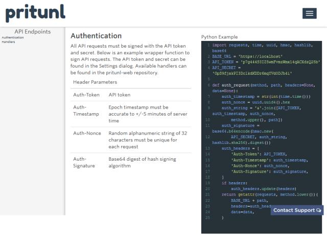 Pritunl API