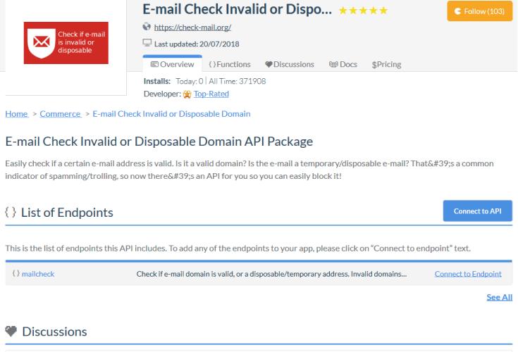 Prevent Disposable API