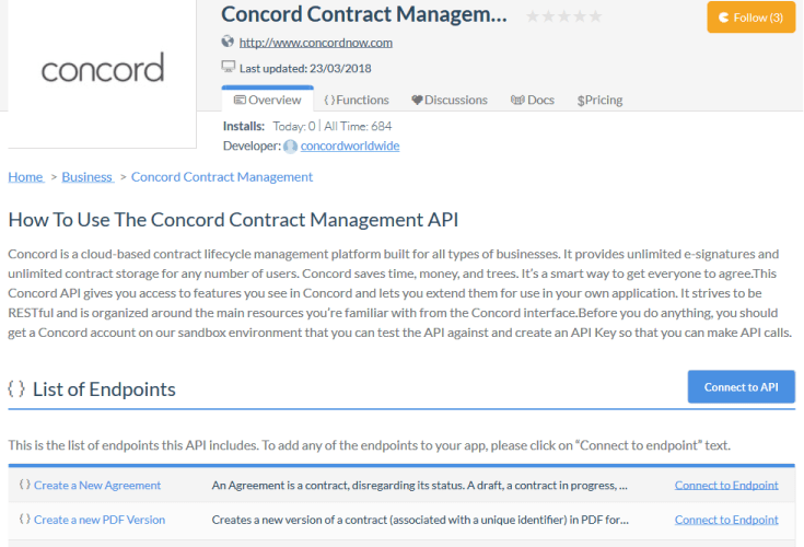 Concord Contract Lifecycle Management API