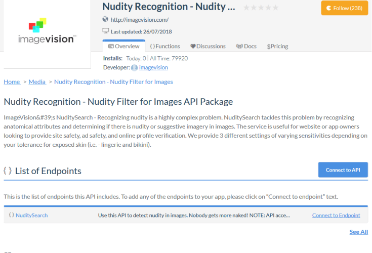 ImageVision NuditySearch API