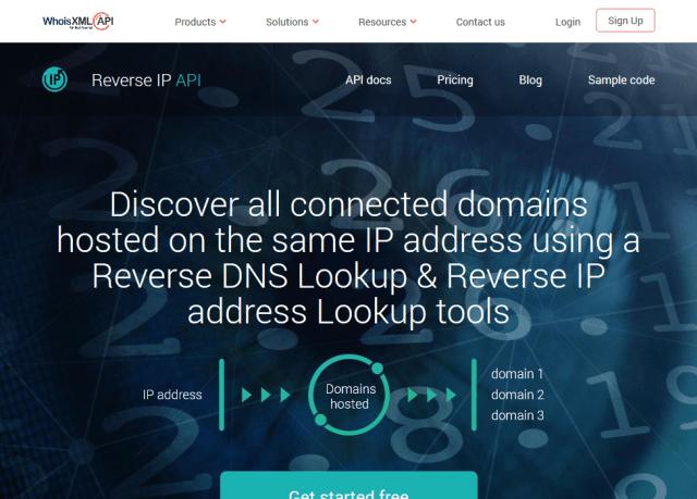 Whoisxml Reverse Ip API