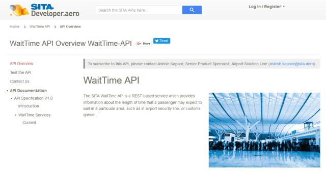 Sita Waittime API