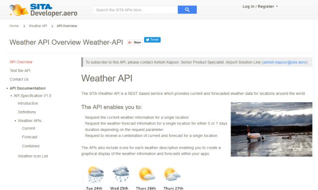 Sita Weather API