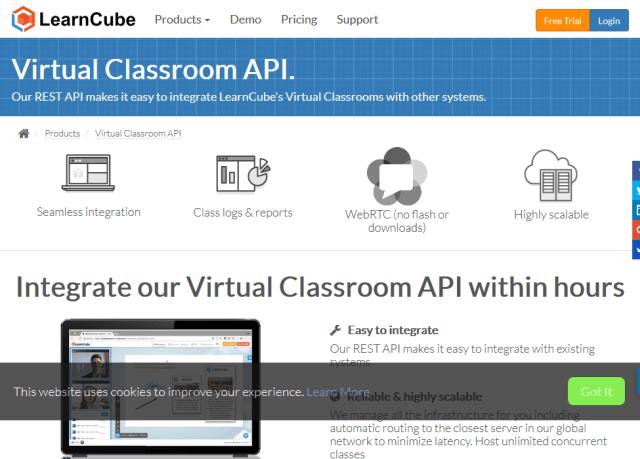 Learncube Virtual Classroom API